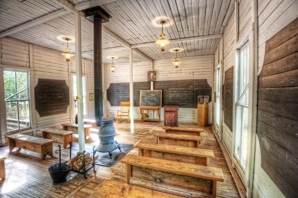 Dave Dicello Photography Texas Schoolhouse At The Log