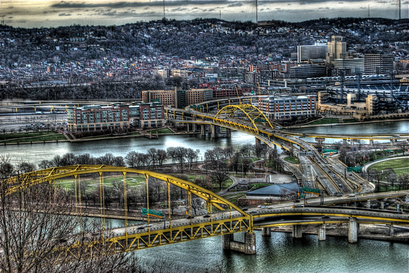 The Point in Pittsburgh during fall HDR