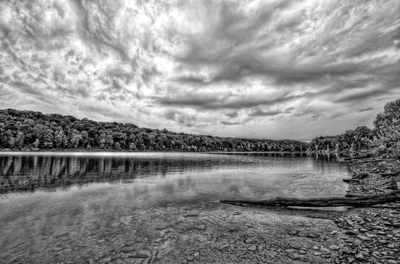 Crooked Creek Park B&W HDR