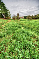 Grass and farm bokeh HDR