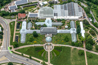 Aerial view of Phipps Conservatory in Pittsburgh