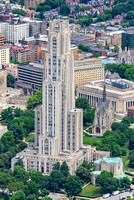 The Cathedral of Learning and Heinz Chapel from above