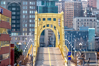 Roberto Clemente Bridge in the morning in Pittsburgh