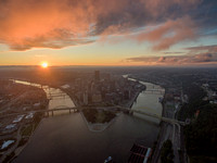 A stunning sunrise in Pittsburgh