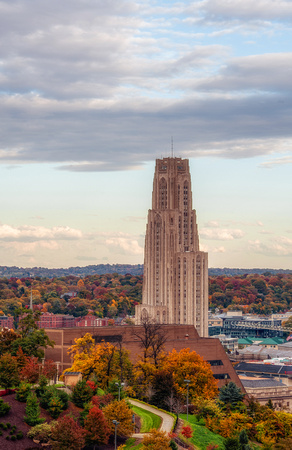 Cathedral of Learning during fall HDR
