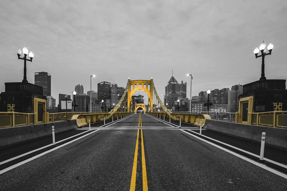 Roberto Clemente Bridge Selective Color