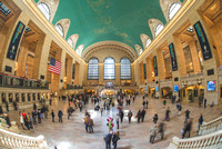 Fisheye view of Grand Central Terminal in New York City