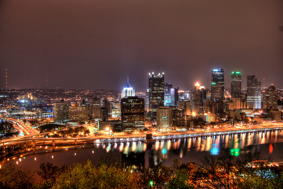 Pittsburgh skyline from Mt. Washington HDR