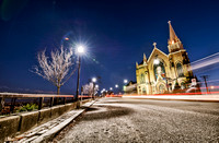 Light trails on Grandview Ave by St. Mary on the Mount HDR
