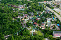 An aerial view of Kennywood Park
