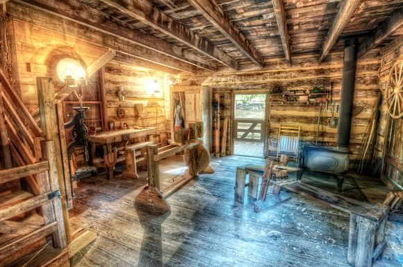 Photography texas wood working cabin at log cabin village hdr