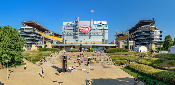 Panorama of the outside of Heinz Field before the Pitt vs. Penn State game in Pittsburgh