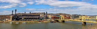 Panorama of PNC Park and the Sister Bridges during the Pittsburgh Pirates Opening Day 2016 - Print