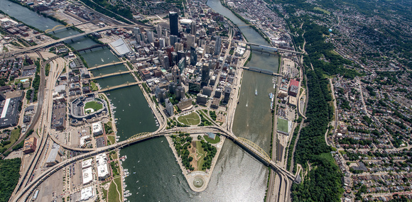 View from high above Pittsburgh