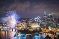 Fireworks after a Pittsburgh Pirates win