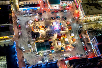 The Holiday Market in Pittsburgh from above
