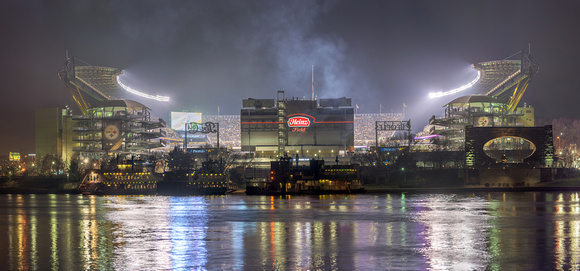Panorama of Heinz Field during Sunday Night Football Print