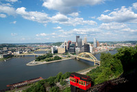 A sunny day in the city of Pittsburgh from the Duquesne Incline