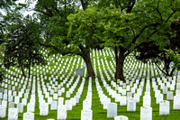 Rows of headstones at Arlington National Cemetery
