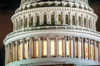 A close up of the US Capitol Building in Washington DC