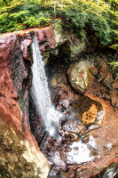 Fisheye view from above Cucumber Falls at Ohiopyle State Park