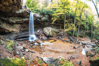 Fisheye view of the Cucumber Falls area at  HDR