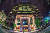 Fifth Avenue Place in Pittsburgh at night