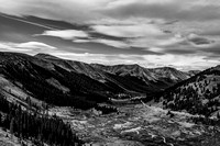 A black and white Colorado landscape from Independence Pass