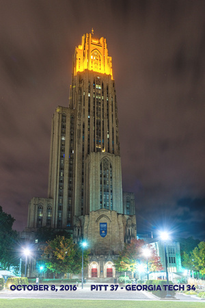 Victory Lights - Cathedral of Learning - Georgia Tech - Score