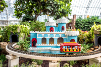 Phipps Conservatory in Pittsburgh - Winter 2016 Light Show and Train Display - 007