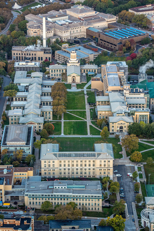 Aerial view of Carnegie Mellon University in Pittsburgh