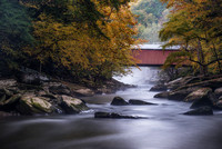 Long exposure of the covered bridge at McConnells Mill State Park