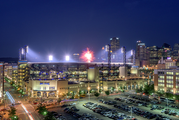 Fireworks over PNC Park after a PIrates win