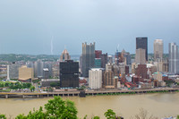 Lightning strikes over Pittsburgh during a storm (5 of 8)