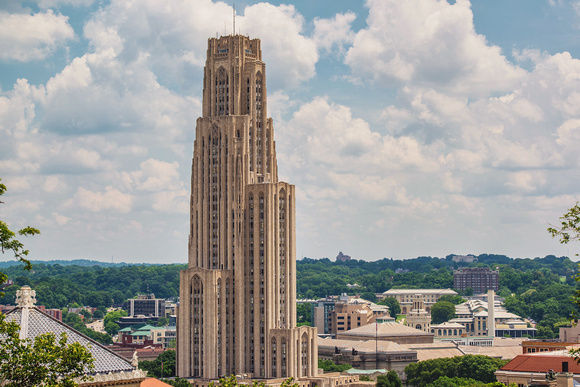 Cathedral of Learning on a sunny day in Pittsburgh