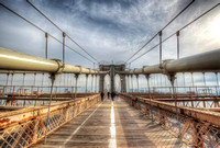 Inside the Brooklyn Bridge HDR
