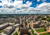 A view of Pittsburgh from the Cathedral of Learning