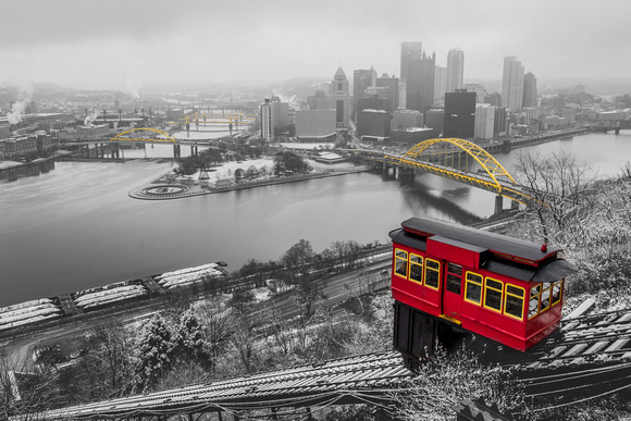 Pittsburgh on a snowy winter day in SC