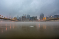 Pittsburgh is sandwiched between layers of fog on the North Shore